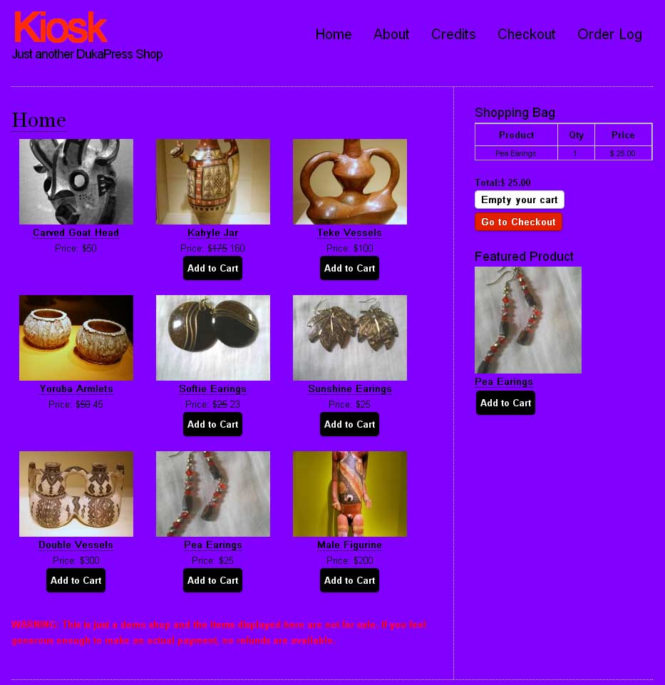 Kiosk Theme - Purple